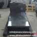 Poland Tombstone/ Custom Design Headstone/ Black Granite Tombstone
