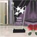 Crystal Trophy Awards Plaque
