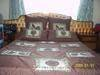Double bed cover with 2 continental pillows and 2 pillow covers