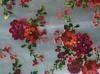Silk fabric, silk rayon burnout velvet
