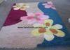 Hand tufted acrylic shaggy carpet rug, anti burning yarn