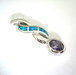 Silver opals rings  925 silver synthetic opals