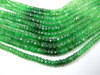 7 Inches - AAA - Super Finest Columbia emerald Green tsavorite shaded