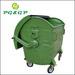 1100L Dome Lid Hot Dip Galvanized Metal Wheelie Waste Container Urban