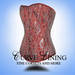 Steel boned corset