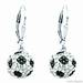 Crystal Leverback Earrings