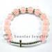 Rose quartz sideway cross bracelet