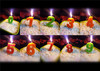 Beauty Stitches Printed Numerical Birthday Candles White Short Line Bo