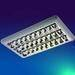 Stainless reflector fluorescent light louver