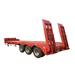 3 axle heavy duty lowbed semi trailer