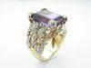 Ring 18kyg Amethyst with Diamond R2348AMD
