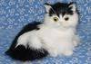 Synthetic furry animal decoration, fur animal decoration