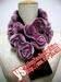 Rex rabbit knit scarf, mink scarf, fox scarf