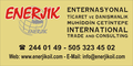 Enerjik International Trade and Consulting: Seller of: sunflower oil, corn oil, soybean oil, canola oil, extra virgin olive oil, virgin olive oil, refined edible oil, cooking oil, crude edible oil. Buyer of: sunflower oil, corn oil, soybean oil, canola oil, extra virgin olive oil, virgin olive oil, refined edible oil, cooking oil, crude edible oil.