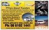 Perth Airport Direct: Seller of: airport transfers, airport shuttle service, shuttle bus, chauffeured cars, aiport buses, airport taxis, private hire bus, charter vehicles, bus charters.
