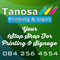 Tanosa Printing and Signs: Seller of: signs, stickers, banners, posters, magnetics, fridge wraps, vehicle branding, contravision, pull-up banners.