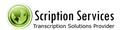 Scription Services: Seller of: medical transcription, general transcription, legal transcription, audio typing, copy typing, business transcription, lecture transcription.